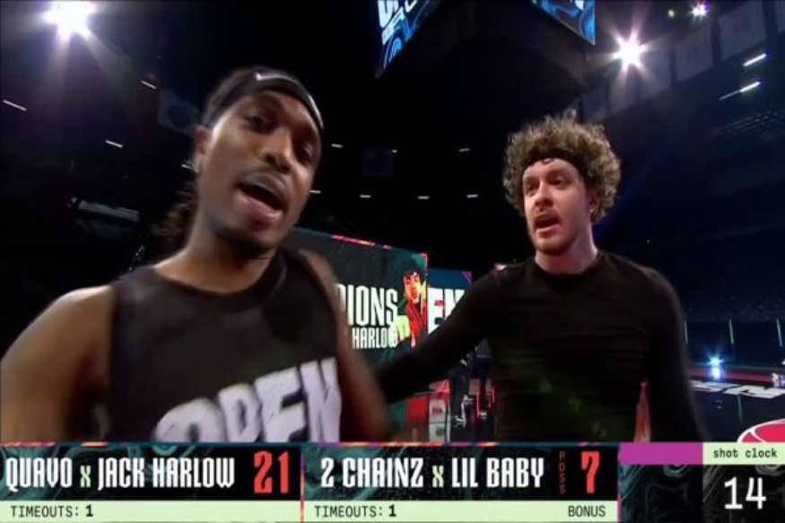 Quavo and Jack Harlow Defeat 2 Chainz and Lil Baby In The Inaugural NBA All-Star 2v2 celebrity Game